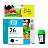 Hewlett Packard No.26 Ink Cartridge Black - 40ml - Cartridge - 40ml