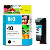 Hewlett Packard No.40 Ink Cartridge Black - 42ml - Cartridge - 42ml
