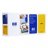 Hewlett Packard No.80 Ink Printhead and Cleaner - Yellow - Cleaner - 400ml