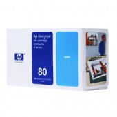 Hewlett Packard No.80 Ink Cartridge Cyan - 350ml - Cartridge - 350ml
