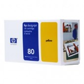 Hewlett Packard No.80 Ink Cartridge Yellow - 350ml - Cartridge - 350ml