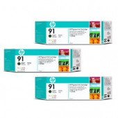 Hewlett Packard No.91 3 Ink multipack - Matte Black - Cartridge - 775ml x 3