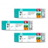 Hewlett Packard No.91 3 Ink multipack - Photo Black - Cartridge - 775ml x 3