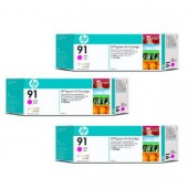 Hewlett Packard No.91 3 Ink multipack - Magenta - Cartridge - 775ml x 3