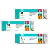 Hewlett Packard No.91 3 Ink multipack - Yellow - Cartridge - 775ml x 3