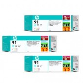 Hewlett Packard No.91 3 Ink multipack - Light Cyan - Cartridge - 775ml x 3