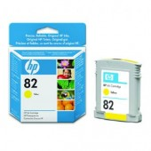 Hewlett Packard No.82 Dye Ink Cartridge Yellow - 28ml - Cartridge - 28ml