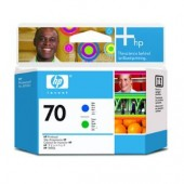 Hewlett Packard No.70 Ink Printhead - Blue & Green - Printhead