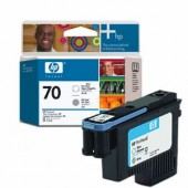 Hewlett Packard No.70 Ink Printhead - Gloss Enhancer & Gray - Printhead