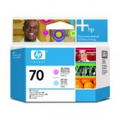 Hewlett Packard No.70 Ink Printhead - Light Cyan & Light Magenta - Printhead