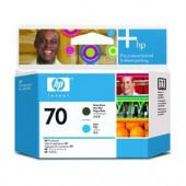 Hewlett Packard No.70 Ink Printhead - Matte Black & Cyan - Printhead