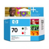 Hewlett Packard No.70 Ink Printhead - Matte Black & Red - Printhead