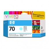 Hewlett Packard No.70 Ink Cartridge Light Cyan - 130ml - Cartridge - 130ml