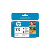 Hewlett Packard No.73 Ink Printhead - Matte Black & Chromatic Red - Printhead